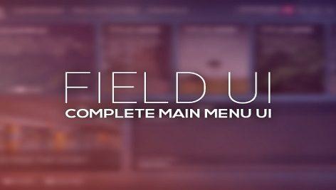 پکیج یونیتی Field – Complete Main Menu UI