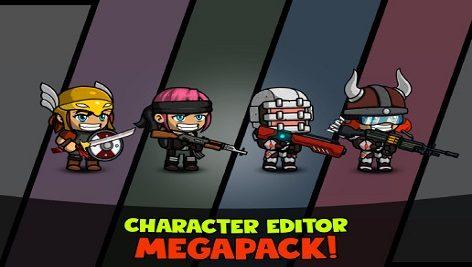 پکیج مجموعه کاراکتر یونیتی Character Editor: Megapack
