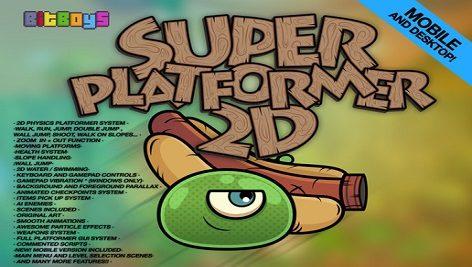 پروژه کامل یونیتی Super Platformer 2D