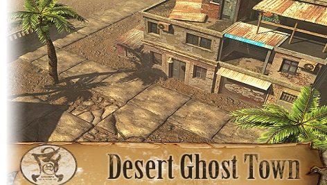 دانلود پکیج محیط سه بعدی یونیتی Desert Ghost Town