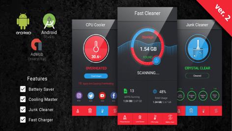 سورس کد اندروید استدیو Fast Cleaner & Battery Saver with Admob Ads