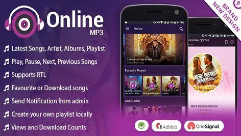 سورس کد اندروید استدیو موزیک آنلاین Android Online MP3 with Material Design
