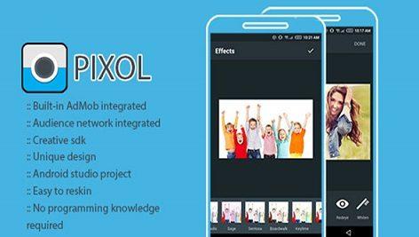 سورس کد ادیت عکس حرفه ای Pixol Powerful Photo Editor App For Android