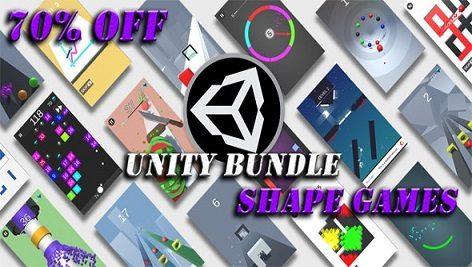 مجموعه پروژه های کامل یونیتی Unity Shape Games Bundle