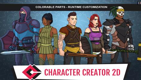 مجموعه کارکتر 2 بعدی یونیتی Character Creator 2D