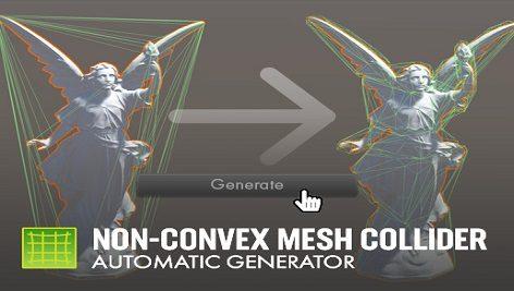 Non-Convex Mesh Collider. Automatic Generator